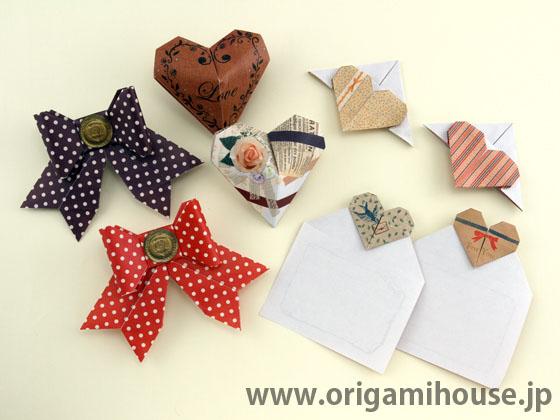 ハート 折り紙 : リボンの折り方 折り紙 : olshop.origamihouse.jp